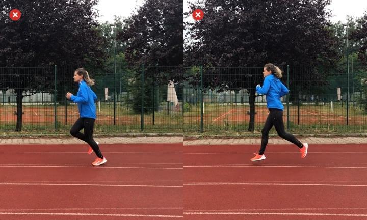 Bouncing and rotating while running