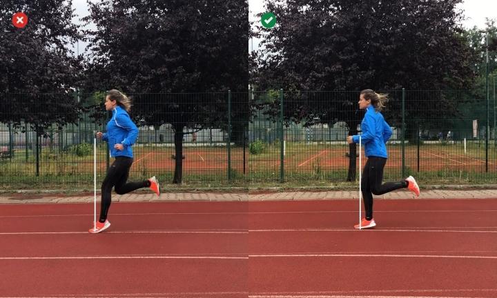 Overstride in running