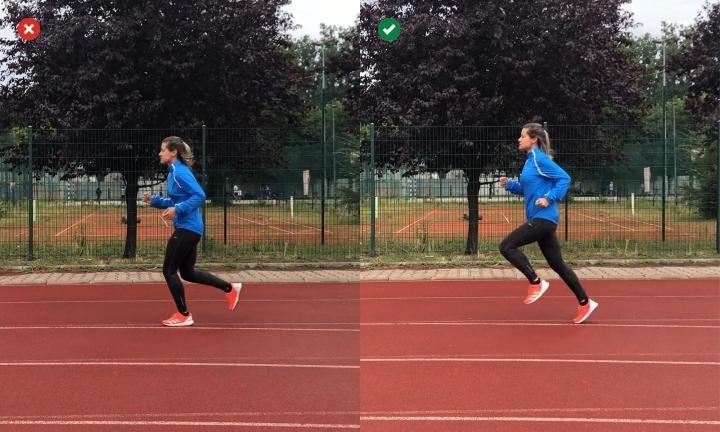 Run tall and lean forward