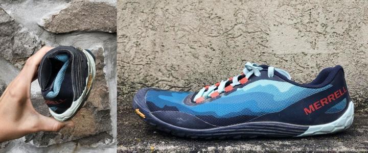 Flexible running shoe