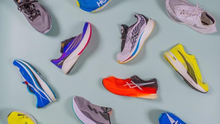 Stiff running shoes