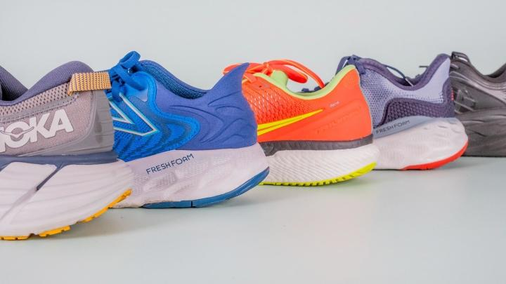 Soft running shoes