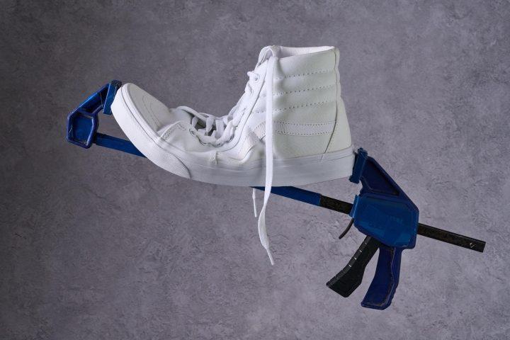 Vans Sk8-Hi Skate Shoe bend testing