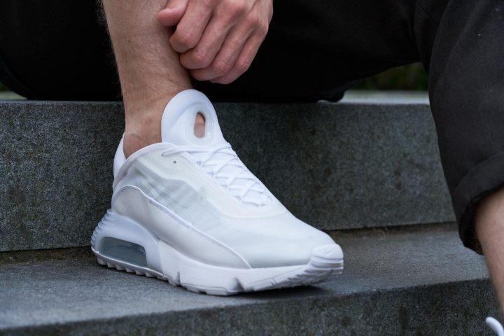 Nike Air Max 2090 On Feet Tongue Detail