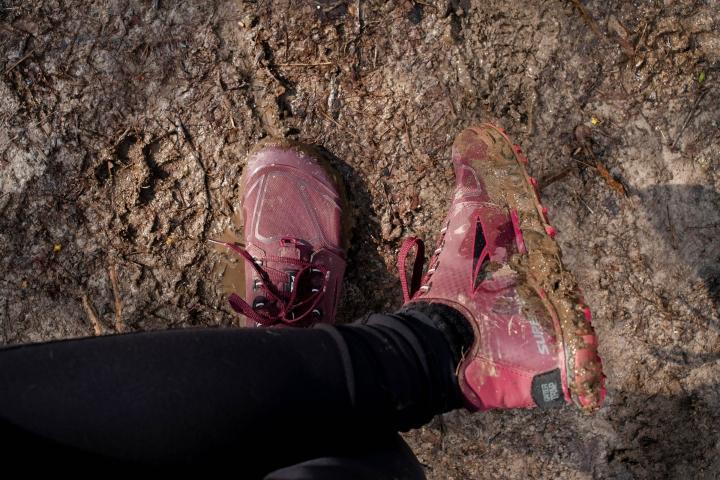 Mud on Altra Superior 4.5