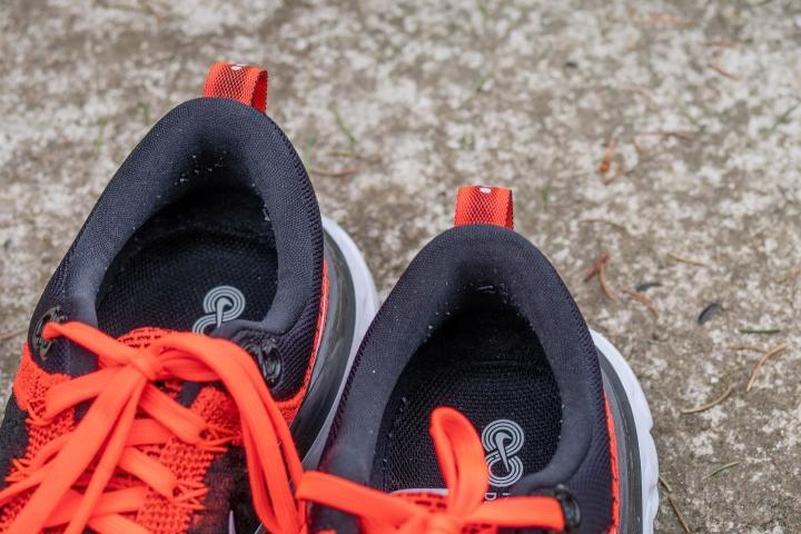 Padded heel collar on Nike Infinity React Flyknit 2