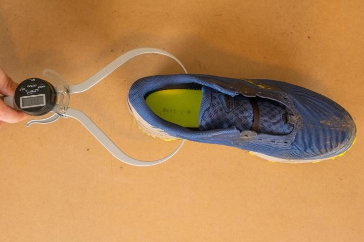 Forefoot width of Saucony Peregrine 11