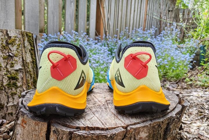 Heel tab on Nike Terra Kiger 7