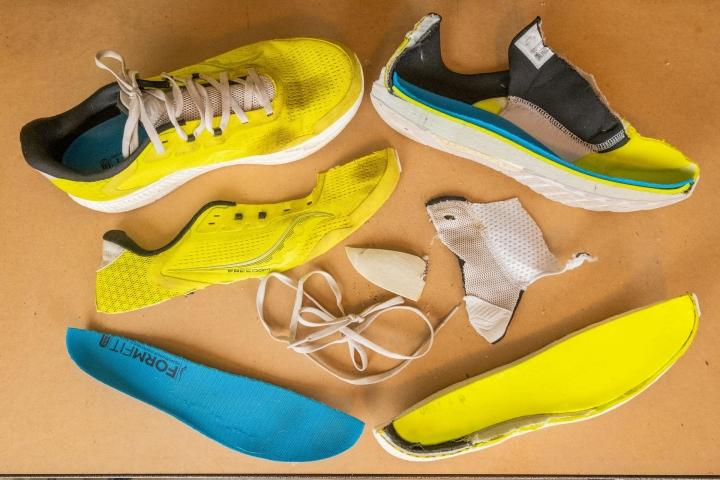 Saucony Freedom 4 pieces of the shoe