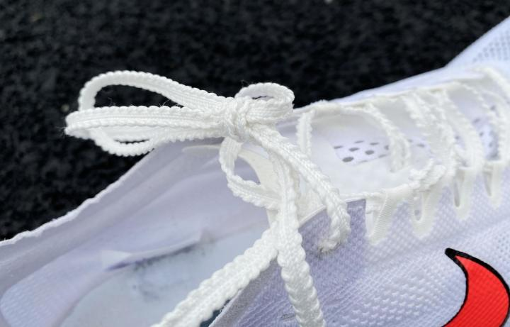 Laces on Nike ZoomX Dragonfly