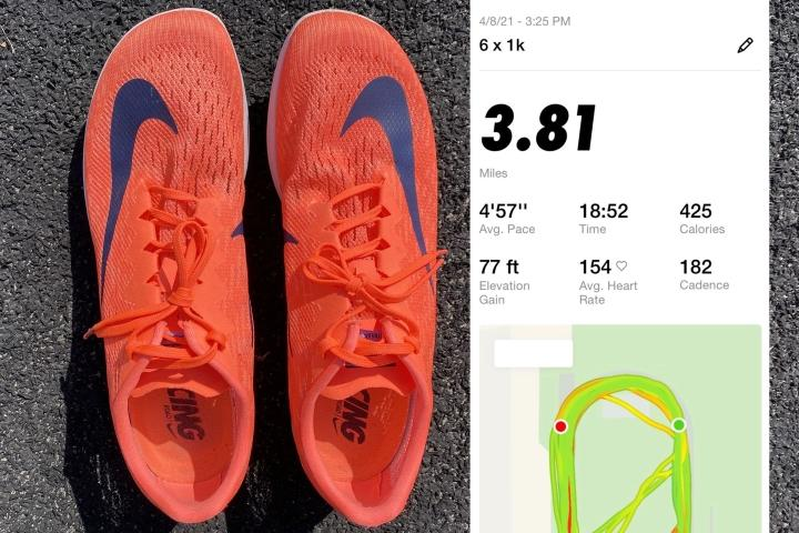 Training sessions in Nike Spike Flats