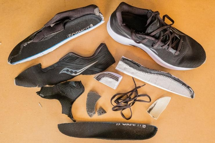 Saucony Axon pieces of the shoe