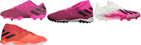 buy 2020 pink soccer cleats for men and women