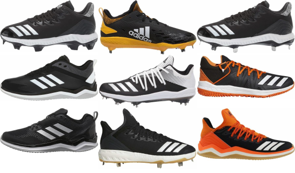 buy adidas black baseball cleats for men and women