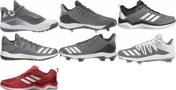 buy adidas grey baseball cleats for men and women