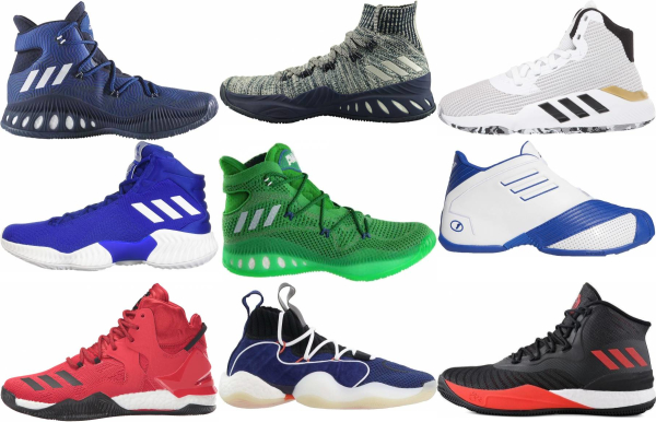 buy adidas high basketball shoes for men and women