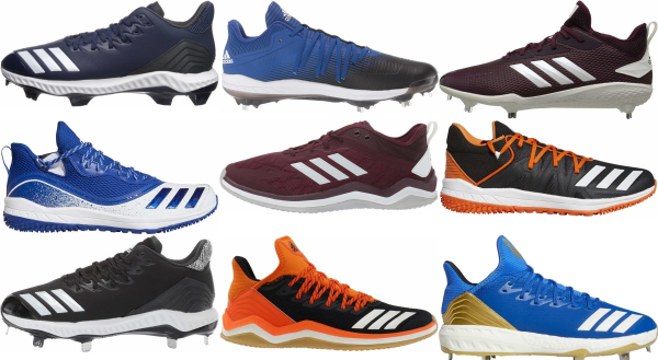 buy adidas lace-up baseball cleats for men and women
