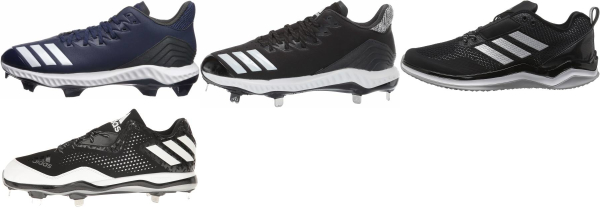 buy adidas leather baseball cleats for men and women