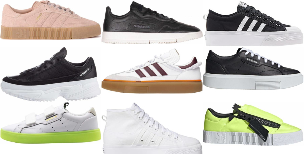 buy adidas platform sneakers for men and women