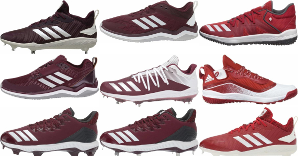 buy adidas red baseball cleats for men and women