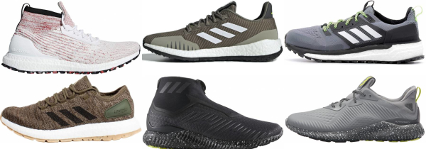 buy adidas water repellent running shoes for men and women