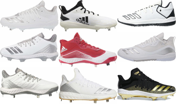buy adidas white baseball cleats for men and women