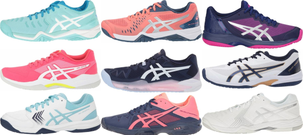 buy asics all court tennis shoes for men and women
