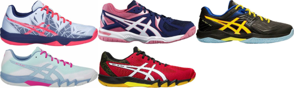 buy asics badminton shoes for men and women