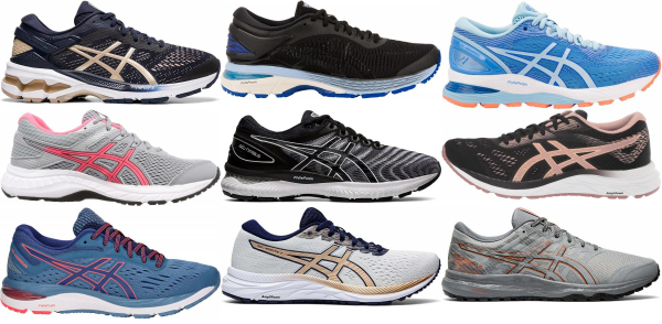 buy asics cushioned running shoes for men and women