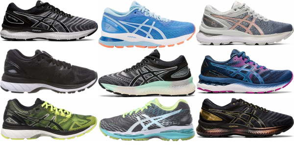 buy asics gel nimbus running shoes for men and women
