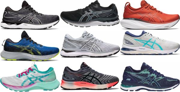 buy asics gel nimbus running shoes for men and women