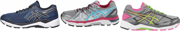 buy asics low arch running shoes for men and women