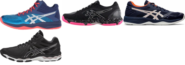 buy asics netburner volleyball shoes for men and women