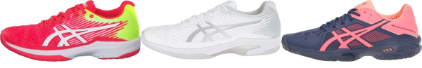 buy asics solution speed tennis shoes for men and women