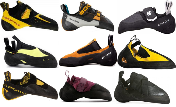 buy asymmetric climbing shoes for men and women