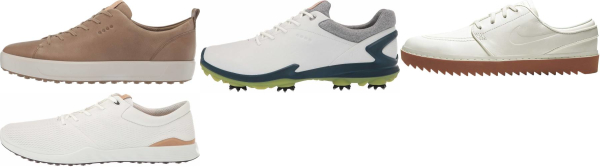 buy beige golf shoes for men and women