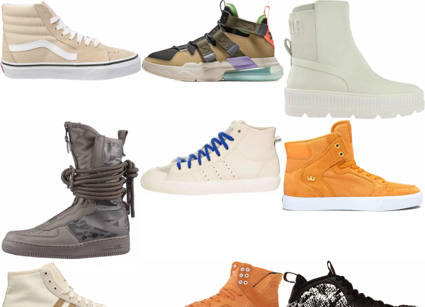 buy beige high top sneakers for men and women