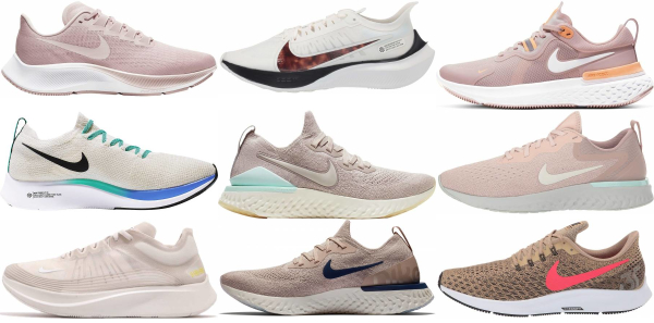 buy beige nike running shoes for men and women