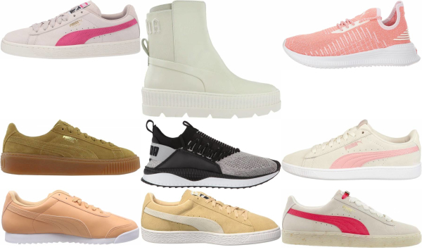 buy beige puma sneakers for men and women