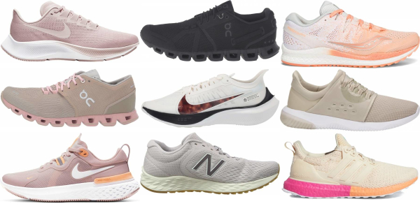 buy beige running shoes for men and women