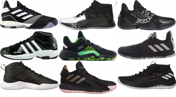 buy black adidas basketball shoes for men and women