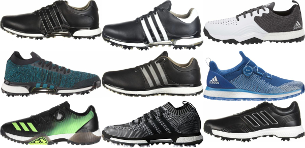 buy black adidas golf shoes for men and women
