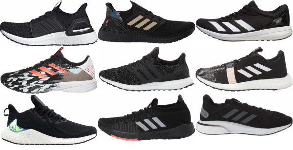 buy black adidas running shoes for men and women