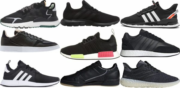 buy black adidas sneakers for men and women