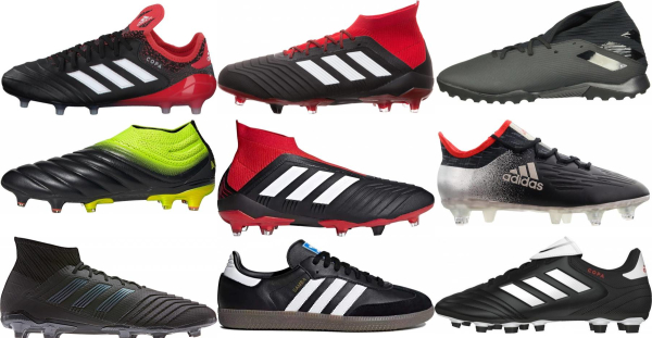 buy black adidas soccer cleats for men and women