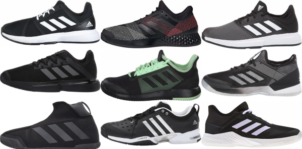 buy black adidas tennis shoes for men and women