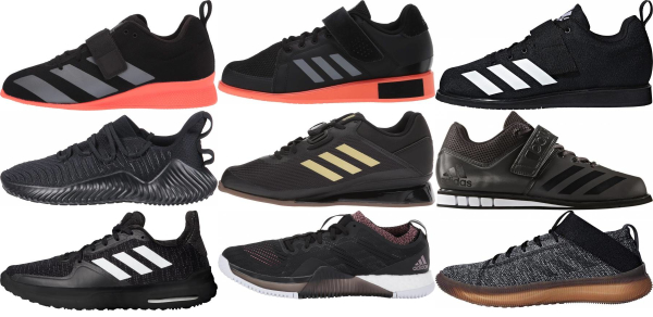 buy black adidas training shoes for men and women