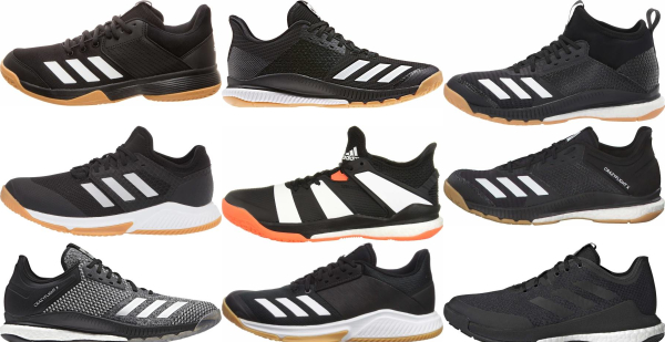 buy black adidas volleyball shoes for men and women