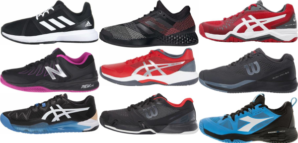 buy black all court tennis shoes for men and women