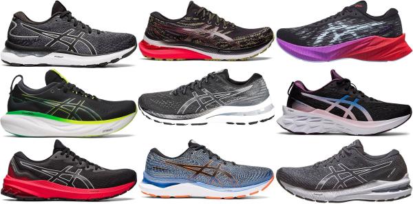 buy black asics running shoes for men and women